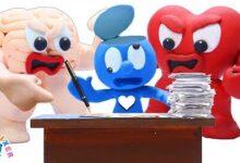 Le Blue Choisit Le Coeur Ou Le Cerveau Animated Short Film Clay Mixer Francais Onqa Nipju Image