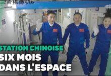 Le Vaisseau Chinois Shenzhou 13 Sest Arrime A La Station Spatiale Nkufimiuia Image