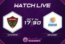 Live Hatayspor V Wbc Enisey Eurocup Women 2021 22 2Qh Qloyaum Image