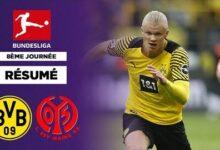 Resume Bundesliga Double Dhaaland Dortmund Simpose Face A Mayence Kndgqqc1Oju Image